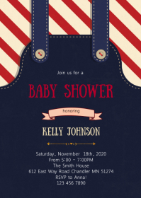 Clothes baby shower invitation