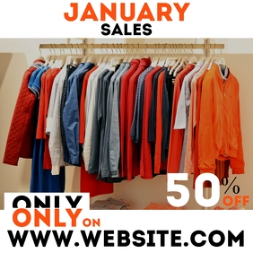 Clothes january sales instagram post advertis