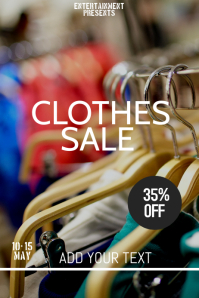Clothes sale flyer template