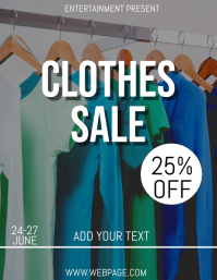 Clothes sale flyer template