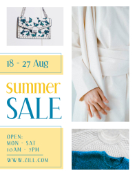 Clothes Summer Sale Poster Pamflet (VSA Brief) template