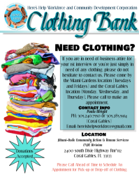 Clothing bank flyer