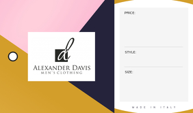 Clothing Brand Tag Etiqueta template