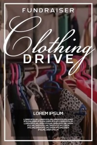 clothing drive charity SOCIAL MEDIA TEMPLATE Poster