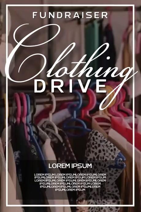 clothing drive charity SOCIAL MEDIA TEMPLATE Plakkaat