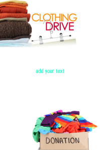 Customizable Design Templates For Clothing Drive