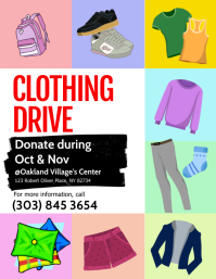 Clothing Drive Flyer Volante (Carta US) template