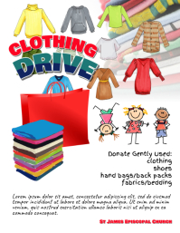 clothing drive fundraiser flyer
