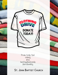 clothing drive fundraiser flyer template