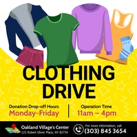 Clothing Drive Instagram Post template