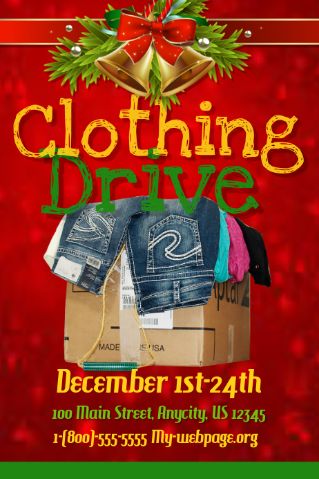 Clothing Drive Template Postermywall