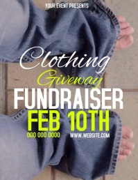 CLOTHING GIVEAWAY FUNDRAISER FLYER TEMPLATE