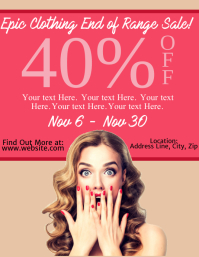 Clothing Sale Flyer Template