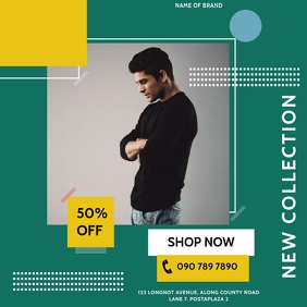 CLOTHING SALE OFFER Instagram Post template