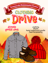 clothing shoe drive donation fundraiser flyer