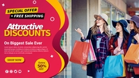 Clothing Store Banner Facebook 封面视频 (16:9) template