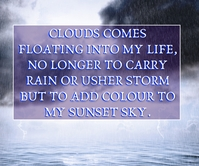 CLOUD AND SKY QUOTE TEMPLATE Large Rectangle