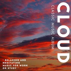cloud classic an relaxing music album design Albumcover template