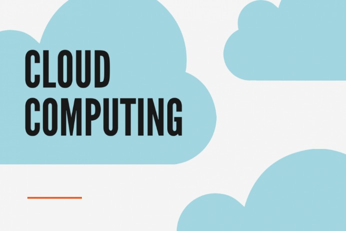 Cloud Computer Label template