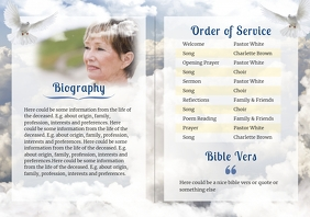 Clouds - Funeral Brochure- 2 A4 template