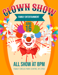 Clown Show Flyer
