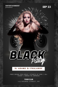 Club Black Party Flyer Template