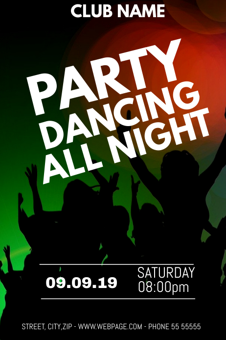 club dance night flyer template