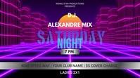 Club DJ invitation Ecrã digital (16:9) template