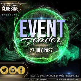 club event ad instagram template
