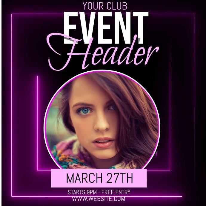 club event ad social media