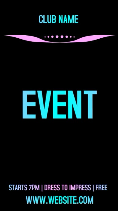CLUB EVENT AD SOCIAL MEDIA TEMPLATE Instagram-verhaal
