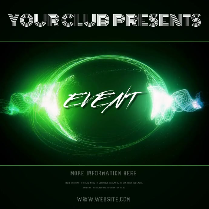 CLUB EVENT ADVERT TEMPLATE Ilogo