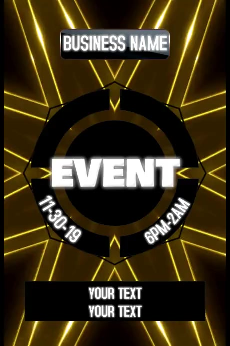 CLUB EVENT Poster template