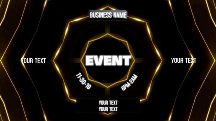 CLUB EVENT Digital na Display (16:9) template