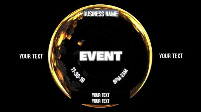 CLUB EVENT Digital na Display (16:9) template