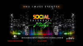 Club Event Flyer Digital Display (16:9) template