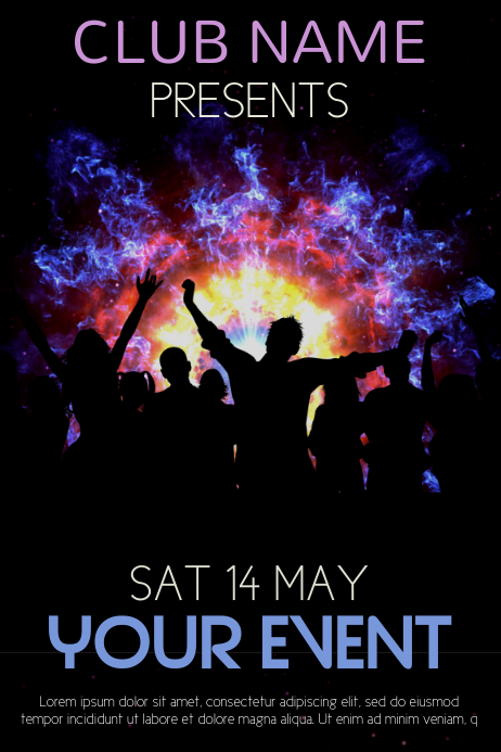Club Event Party Flyer Template Postermywall