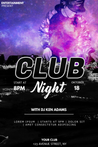 Club event party flyer template