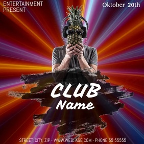 Club event party video flyer template