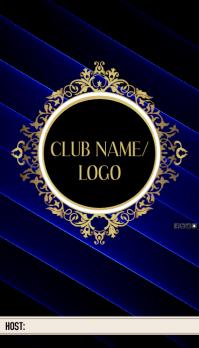 CLUB HOST CARD Carte de visite template