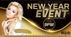 CLUB NEW YEAR EVENT AD template Isithombe Esabiwe ku-Facebook