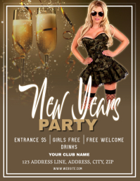 Club New Years party Night ad Flyer Template