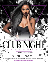 club night Flyer (US Letter) template