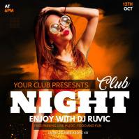 club night Square (1:1) template
