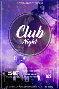 Club night event flyer template