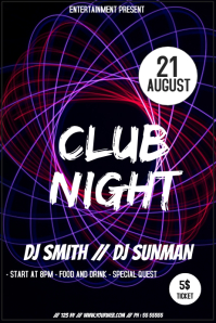 Club night event party flyer template