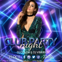 CLUB NIGHT EVENT PARTY Flyer template Post Instagram