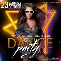 CLUB NIGHT EVENT PARTY Flyer template Logo