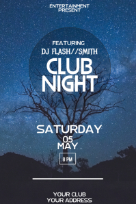 Club night flyer template