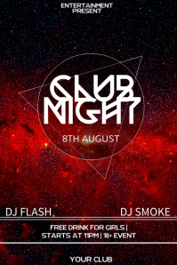Club night flyer template